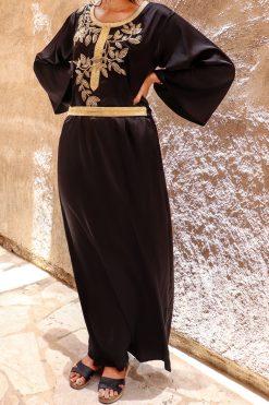 Black And Gold Kaftan Dress