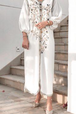 Ivory Kaftan Dress