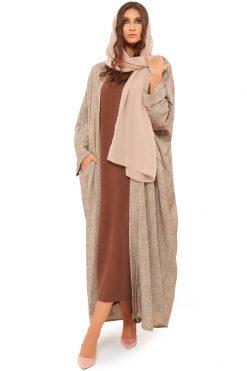 Brown Linen Abaya