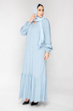 Blue Abaya with Sheila