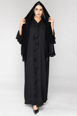 Bell Sleeves Black Abaya