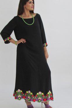 Black Floral Jalabiya
