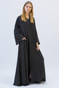 Silk Abaya With Pockets
