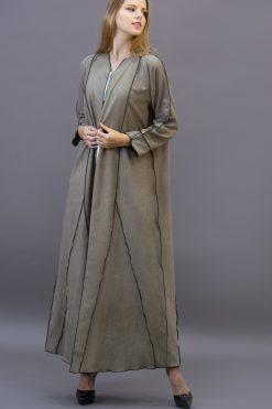 Beige Brown Classic Abaya