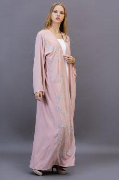 Baby Pink Open Abaya
