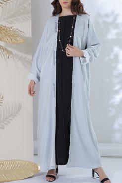 Shimaar Grey Abaya
