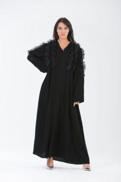 3D Ruffled Abaya
