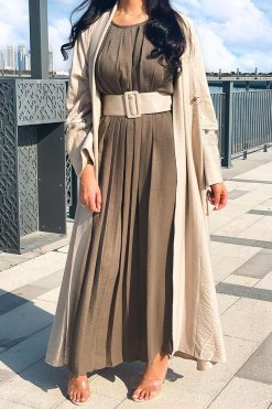Open Abaya with Dress