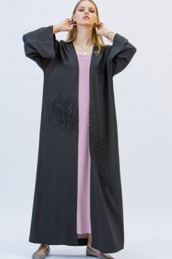 Black Bisht Style Abaya