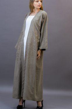 Beige-Brown Bisht Abaya