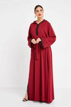 Maroon Turkish Abaya