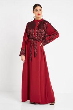 Marron Georgette Turkish Abaya