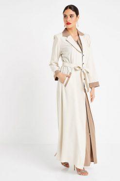 Fawn Collar Turkish Abaya