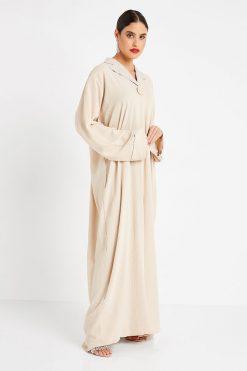 Fawn Collar Abaya