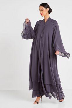 Chiffon Grey Abaya