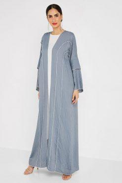 Silk Blue and White Bisht