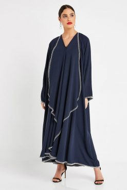 Frock Style Navy Abaya