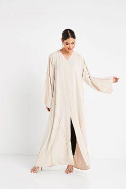Fawn V-neck Abaya