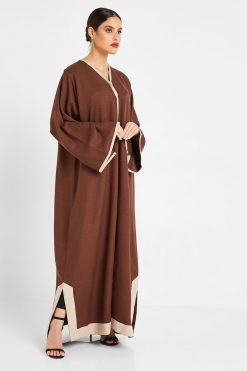 Brown Bisht Style Abaya
