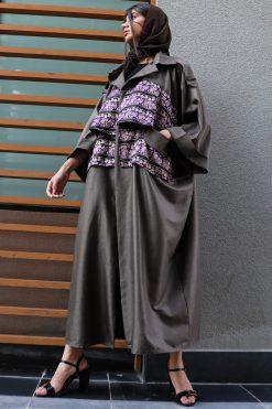 Brown Abaya with Pockets