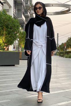 Black Abaya with Inner Dress