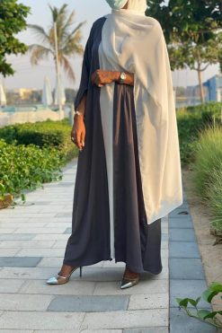 Washed Silk Grey Abaya