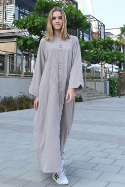 Buttoned Abaya