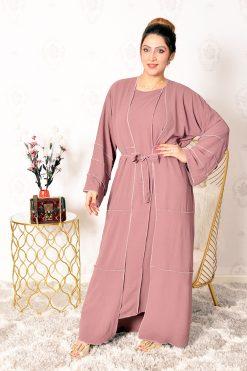 Flared Cotton Casual Abaya