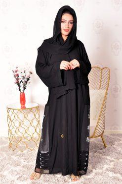 Bousni Beads Embellished Abaya