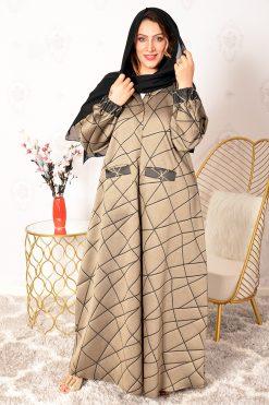 Gold Pockets Style Abaya