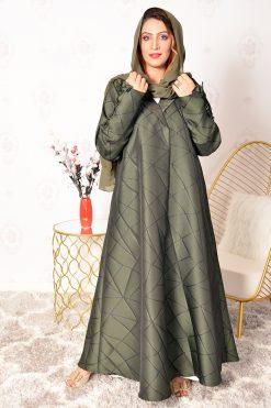 Green Collar Style Abaya