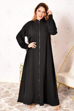 Zipper a-line Abaya