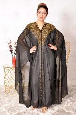 Pearls and Peads Embellished Abaya