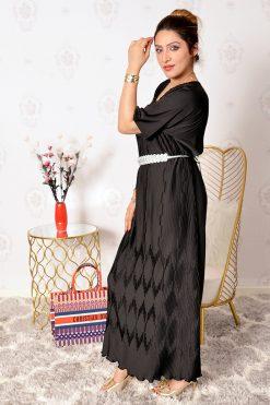 Satin pleated  Dress with Lulu Belt