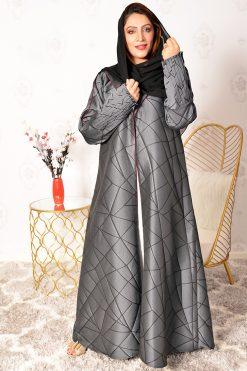 Grey Collar Style Abaya