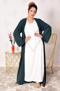 Beaded Green Abaya