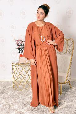 4-Pieces Rust Abaya Set