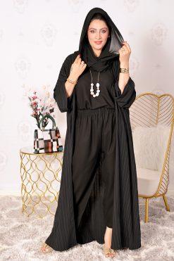 4-Pieces Black Abaya Set