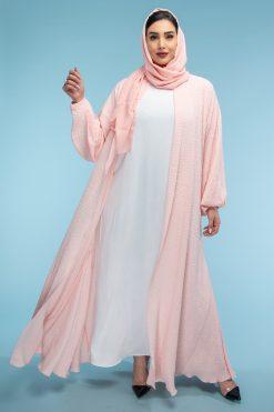 Colored Open Abaya