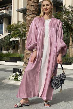 Shimmer Abaya with Inner