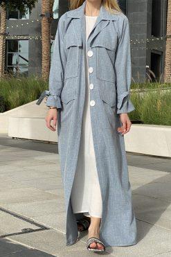 Coat Style Abaya Set