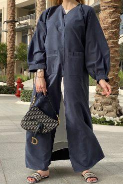 Bluish Abaya Set