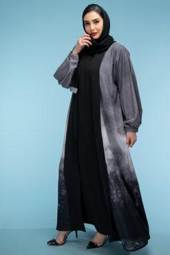 Grey Color Abaya Set