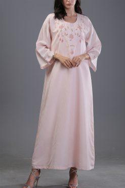 Pink Kaftan Maxi Dress