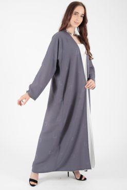 Basic Grey Abaya