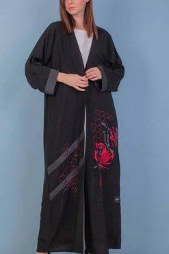 Abaya with Floral Embroidery Dubai