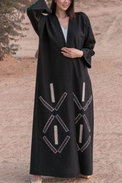 Abaya Beads Work