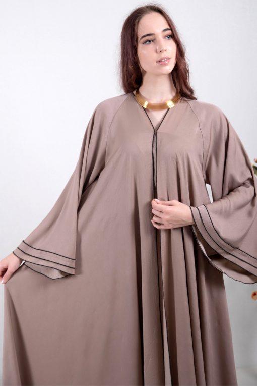 Hanan Heavy Crepe Abaya - Heracloset Online