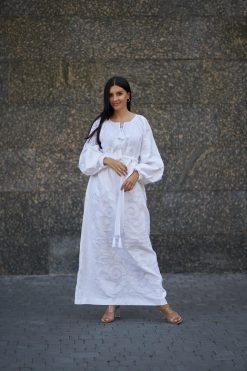 Linen White Kaftan
