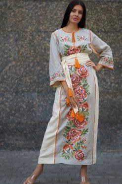 Floral Embroidered Kaftan